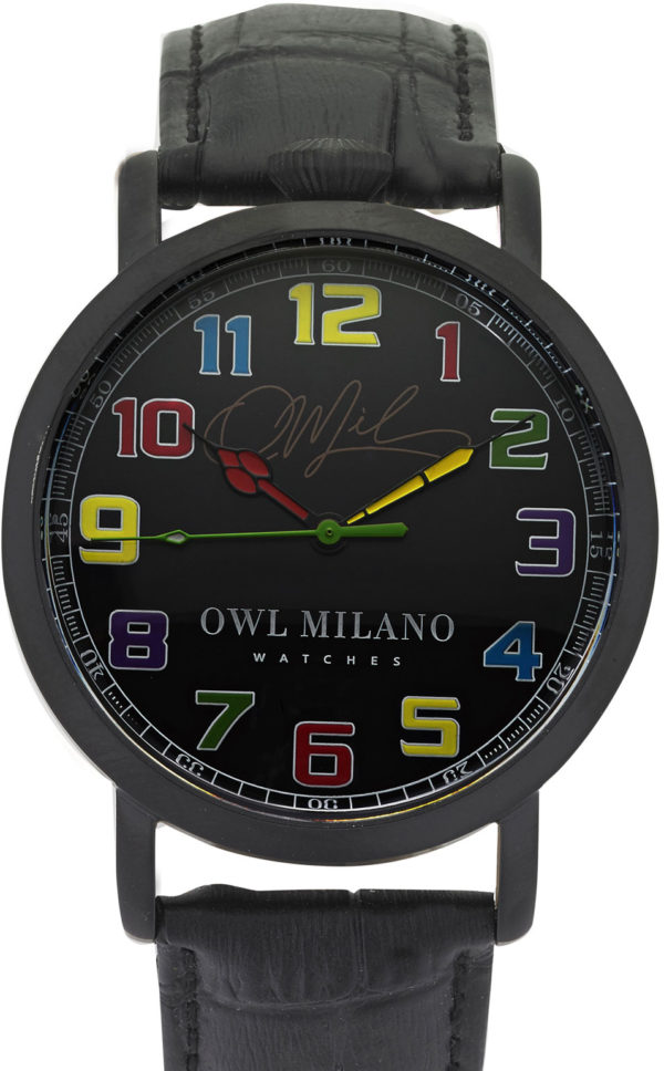 OOrologio Owl Milano Leather Uomo OM-B-BK-2M zoom