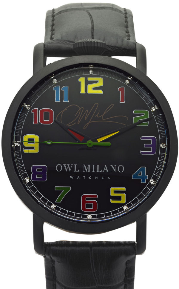 Orologio Owl Milano Leather Donna OM-BD-BK-2M zoom