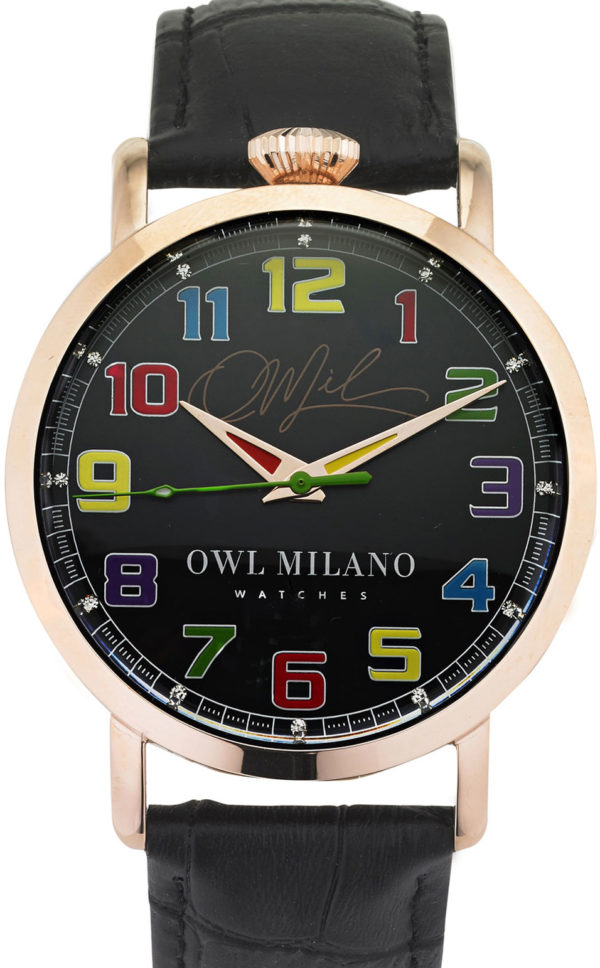 Orologio Owl Milano Leather Donna OM-R-BK-2M zoom