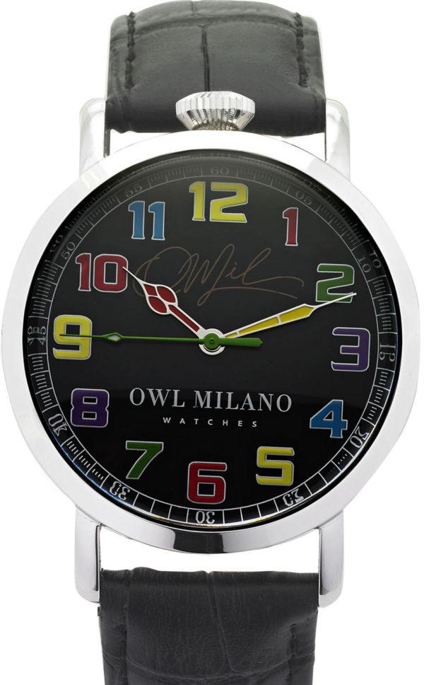 Orologio Owl Milano Leather Uomo OM-S-BK-2M zoom
