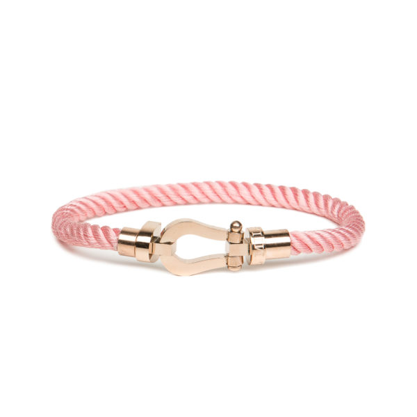 Bracciale Nylon e Acciaio Owl Milano rosa-rosè